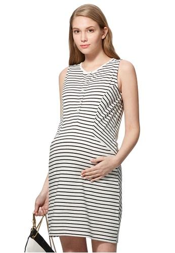 03f8fbe2b7c8f Mamaway white Cool Cotton Maternity & Nursing Dress EA6A7AA2308389GS_1