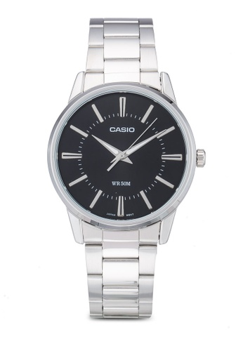 Casio silver Casio Enticer Analog Black Dial Men's Watch CA843AC93LOKMY_1