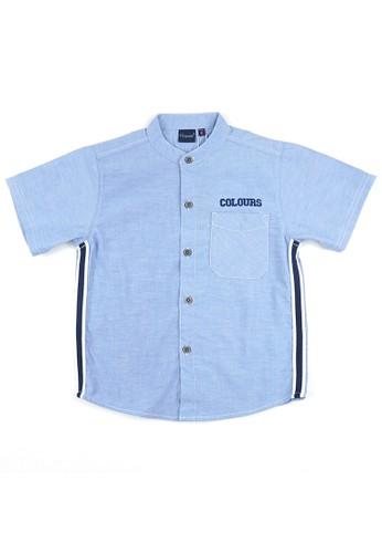 KIDS ICON blue KIDS ICON - Kemeja Anak Laki-laki Colours Twill Tape - CL502100190 7F3A4KAA7D84AFGS_1