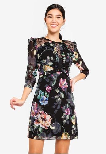 Little Mistress multi Floral Lace Shift Dress 96964AA033B078GS_1