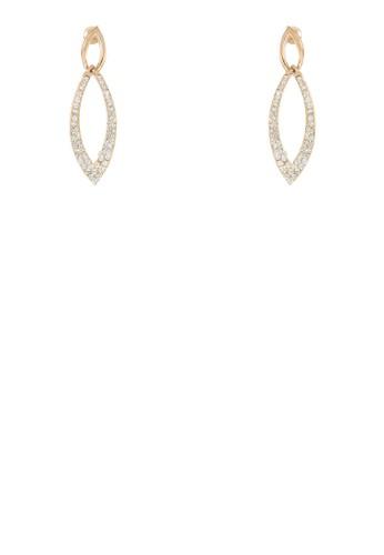 閃鑽鏤空滴水形耳環zalora 男鞋 評價, 飾品配件, 飾品配件