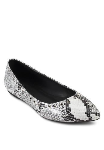 蛇紋尖頭平esprit 折扣底鞋, 女鞋, 鞋