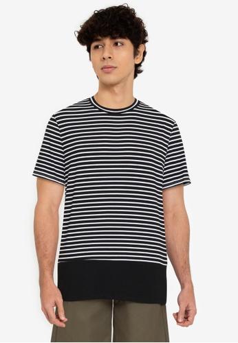 ZALORA BASICS multi Quarter Stripes T-Shirt 366B9AAE031476GS_1