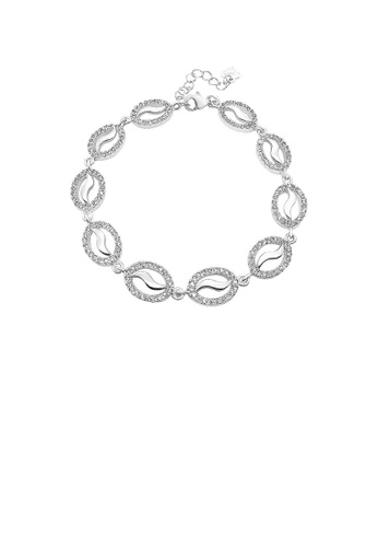 Glamorousky silver 925 Sterling Silver with White Cubic Zircon Bracelet 2081EACCF44E2CGS_1