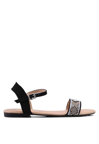 Dorothy Perkins black Black Fliss Beaded Sandals A1A5ASHC0C9140GS_1