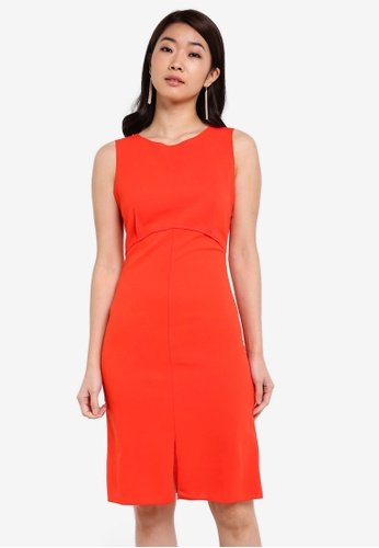 ZALORA orange Essential V Back Paneled Dress 1FA51ZZ0003342GS_1