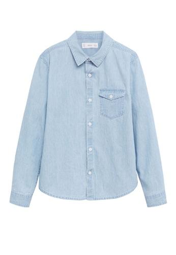 MANGO KIDS blue Pocket Denim Shirt 770F7KA74C5938GS_1