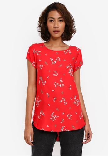 Vero Moda red Boca Multi Printed Blouse VE975AA0T0EEMY_1