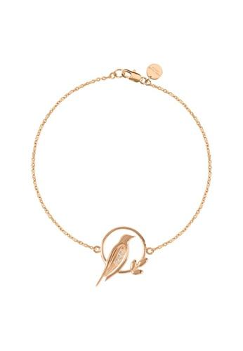 Sara Miller gold Sara Miller London - Signature - Bird Charm Bracelet (Rose Gold) (SAJS3012-HM) D612CACF7EDC08GS_1