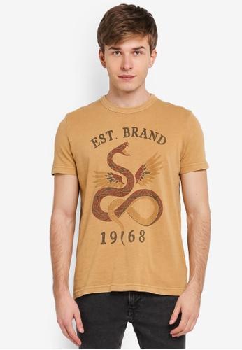 ESPRIT brown Short Sleeve T-Shirt ES374AA0SJ7UMY_1