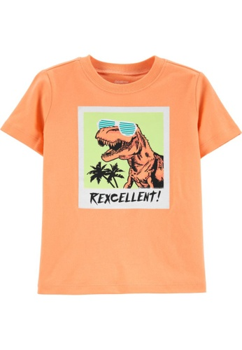 Oshkosh B'gosh orange OSH KOSH Boy Orange Rexcellent Graphic Tee 40B3FKA4A0D573GS_1