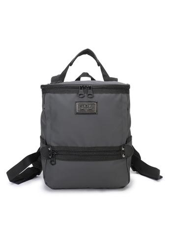 DUSTY grey Twin-Bucket backpack(S) 9339BAC23F6C1DGS_1