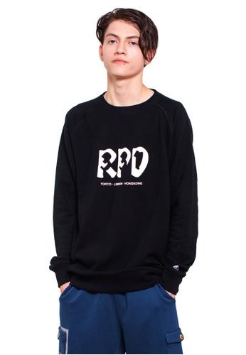 Reoparudo 黑色 RPD 331系列反光圓領衛衣 (黑色) 0C0E8AA83A4289GS_1