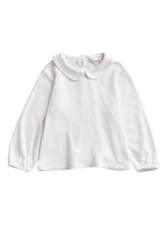 MANGO BABY white Long-Sleeved Linen T-Shirt 5AA4AKAFAD8D5FGS_1