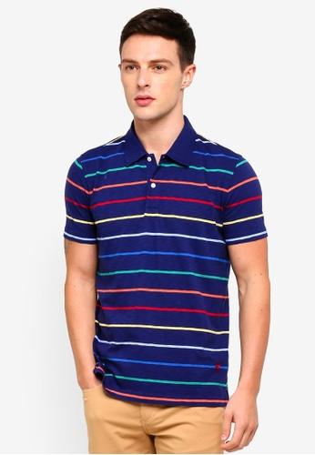 Brooks Brothers 藍色 條紋POLO衫 09C2CAA287DAFCGS_1