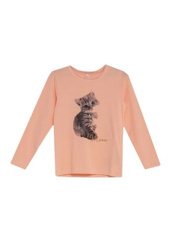 NAME IT pink and orange Nikka Long Sleeves Tee 14FA9KADE4E534GS_1