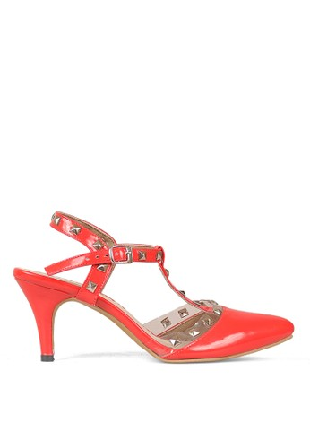 Cbr Six Sepatu High Heel Wanita Merah
