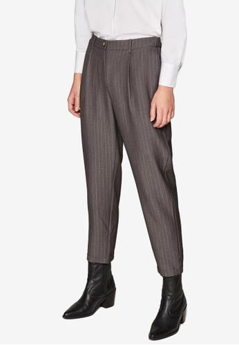ESPRIT grey Woven Cropped Pants E91FCAACC38C3CGS_1