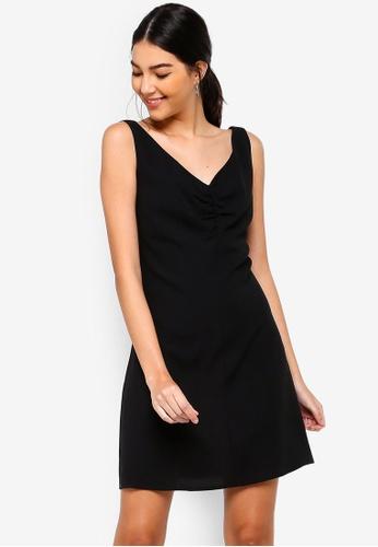 ZALORA 黑色 Twist Front Dress 50737AA08A20FBGS_1