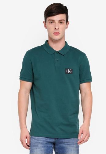 Calvin Klein 綠色 Monogram Regular Polo Shirts - Calvin Klein Jeans EAD37AA41D4A3EGS_1