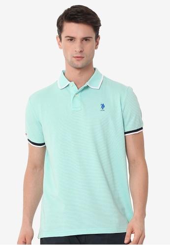 U.S. Polo Assn. blue Men's Basic Classic Fit Sport Polo Shirt 4253BAA6E47A2DGS_1