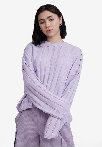 The Ragged Priest purple Wish Knit Jumper 0B1D2AA257665AGS_1