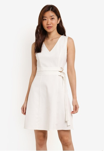ZALORA white Double D-Ring Dress 06061AA7EA7FF6GS_1