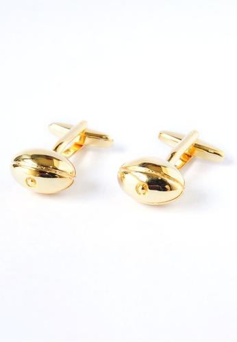 Splice Cufflinks gold Gold Plated Rugby Ball Cufflinks SP744AC36PQPSG_1