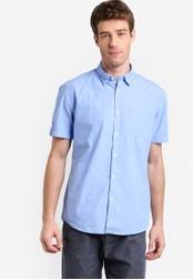 ESPRIT blue Woven Short Sleeve Shirt ES374AA54CTDMY_1