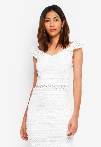 Lipsy white Lace Crop Co-Ord Top E98E9AA94B1E5FGS_1