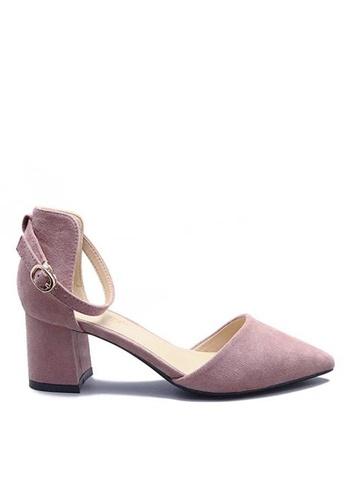 Twenty Eight Shoes 粉紅色 尖頭中踭鞋883-1 CB22CSH19E1D56GS_1