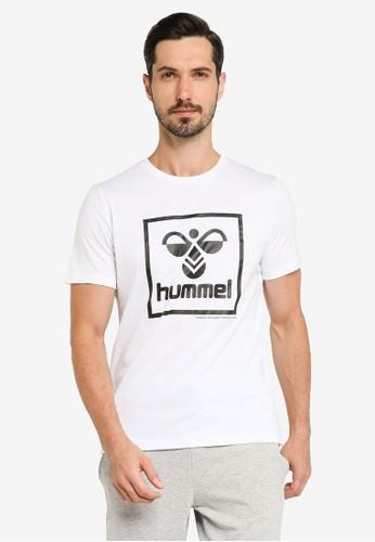 Hummel white Isam T-Shirt DCE86AAADDAB8DGS_1
