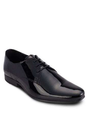 三眼繫帶漆zalora 折扣碼皮德比鞋, 鞋, 鞋