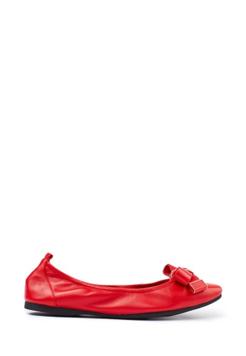 PAZZION red Ballerina Flats E4D84SH36D2E39GS_1