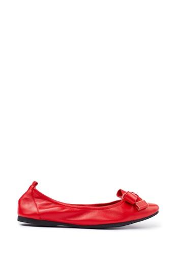 PAZZION red Ballerina Flats E4D84SH36D2E39GS_1