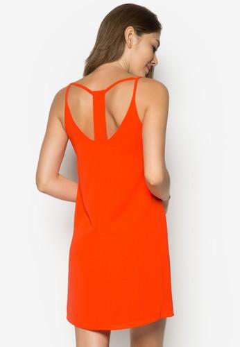 細肩帶鏤空連zalora 手錶 評價身裙, 服飾, 服飾
