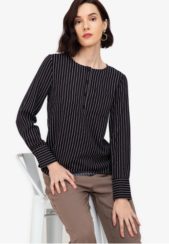 ZALORA WORK multi Button Down Blouse With Pockets 058C9AA459362BGS_1