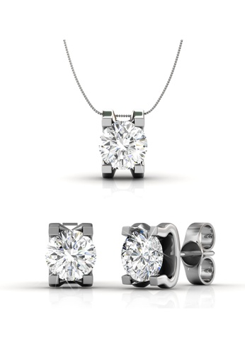 Her Jewellery silver Swarovski® Crystals - Caring Set  (18K White Gold Plated) Her Jewellery HE581AC0RCB5MY_1