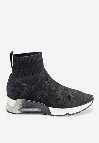 ASH black Lulu Camo - Black Knit High-Top Sneakers 79790SH191736EGS_1