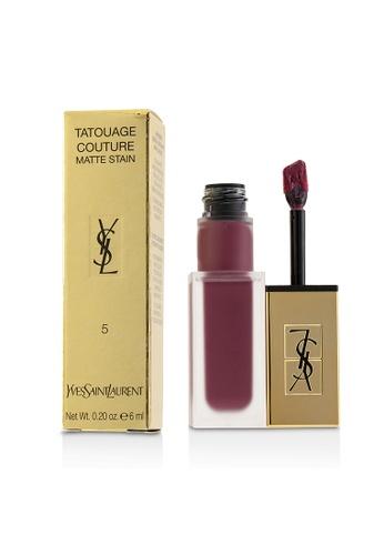 Yves Saint Laurent YVES SAINT LAURENT - Tatouage Couture Matte Stain - # 5 Rosewood Gang 6ml/0.2oz 316BCBEBB3B19AGS_1