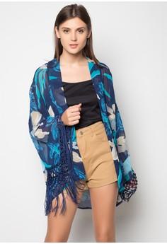 Butterfly Tasseled Kimono Cardigan Top