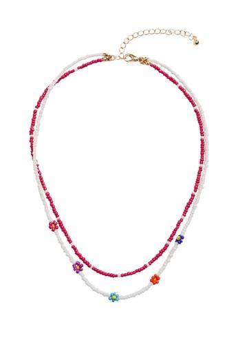 MANGO KIDS pink Beaded Double Necklace 12F1CKC89C6706GS_1