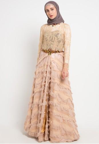 LUIRE by Raden Sirait gold Adisca Dress 558BAAAC8C69EBGS_1