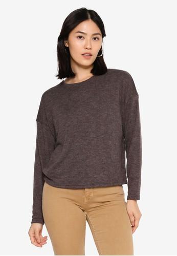 ONLY brown Kaylee Long Sleeve Top 4C68DAA2976193GS_1