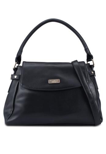 Unisa black Faux Leather Convertible Satchel 16230AC9E585A3GS_1