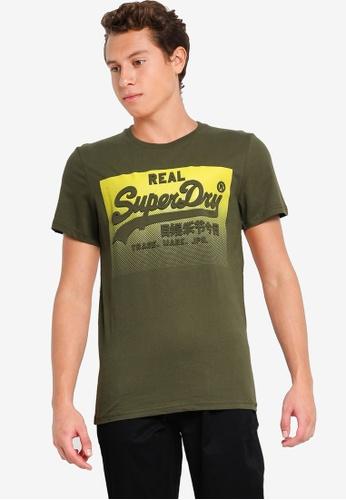 Superdry green Vintage Logo Halftone Emboss Tee F5940AAE66C232GS_1
