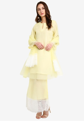 Ballerina Tart Nenas Kurung from GHAANIA in White