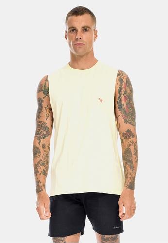 VACANCY CO yellow Flamingo Embroidery Tank 05DC2AA7A6B6BFGS_1