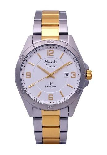 Alexandre Christie silver Alexandre Christie Jam Tangan Pria - Silver Gold - Stainless Steel - 1016 MDBTGSL 1D78BAC123D9F6GS_1