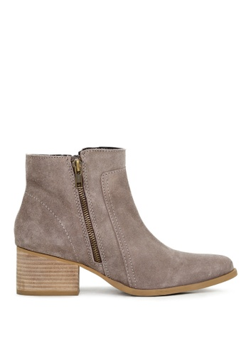 Rag & CO. beige Ankle Boots with Zip Closure 67227SH5725CF5GS_1